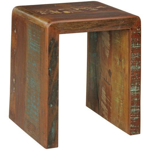 Wohnling Beistelltisch »WL5.070«, Kalkutta 45 x 40 x 55 cm Massivholz Couchtisch Wohnzimmer Tisch Nachttisch Schlafzimmer Nachtkonsole Shabby-Chic Nachtkästchen Massiv