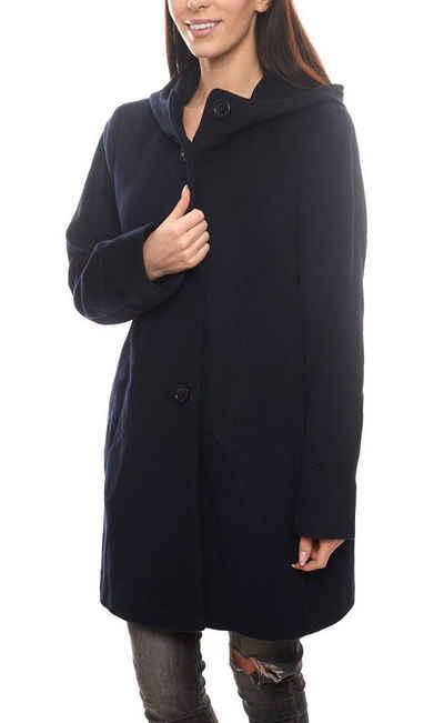 Gil Bret Wintermantel »GIL BRET Woll-Mantel schlichter Damen Winter-Mantel Freizeit-Mantel mit Kaschmir-Anteil Night Blue«