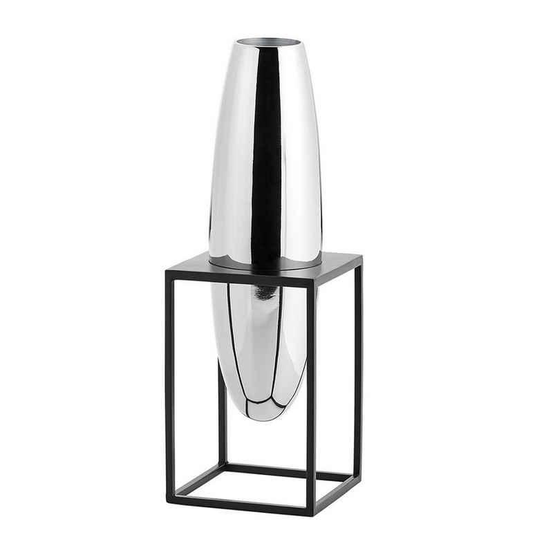 PHILIPPI Tischvase »Solero S; Moderne Dekovase aus hochglanzpoliertem Nickel im Ständer aus Stahl«