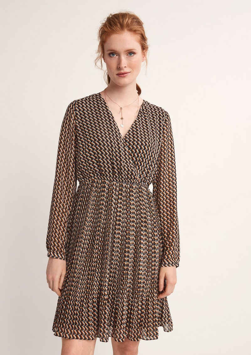 Comma Minikleid »Kleid mit Allovermuster«
