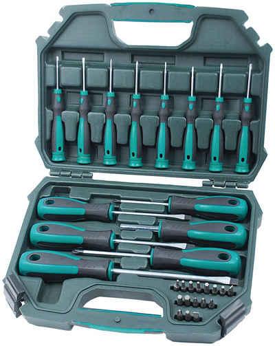 Brüder Mannesmann Werkzeuge Schraubendreher, (Set, 30 St), inkl. Koffer