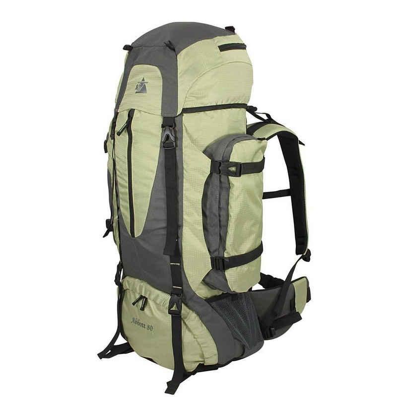 10T Trekkingrucksack »10T Abbott 80 - Trekking-Rucksack 80 Liter, Funktions-Staufächer, Regenschutz, 2800g«