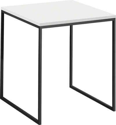 now! by hülsta Couchtisch »CT 17«, quadratisch, Höhe 54,5 cm, mit grauem Gestell