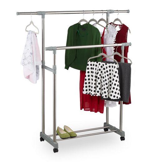relaxdays Kleiderständer »Kleiderständer mit zwei Kleiderstangen«