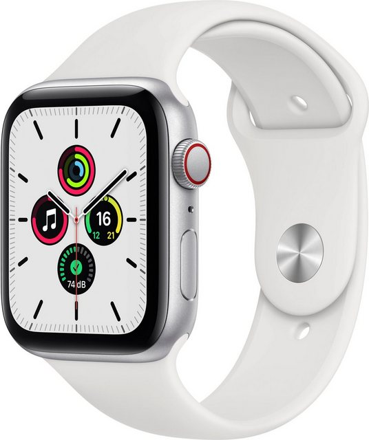 Smartwatches - Apple SE GPS Cellular, Aluminiumgehäuse mit Sportarmband 44mm Watch (inkl. Ladestation (magnetisches Ladekabel)  - Onlineshop OTTO