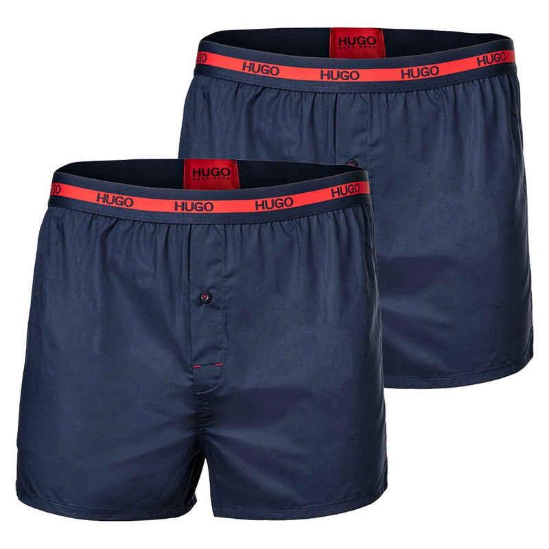 HUGO Boxershorts »Herren Boxer Shorts, 2er Pack - Woven Boxer,«