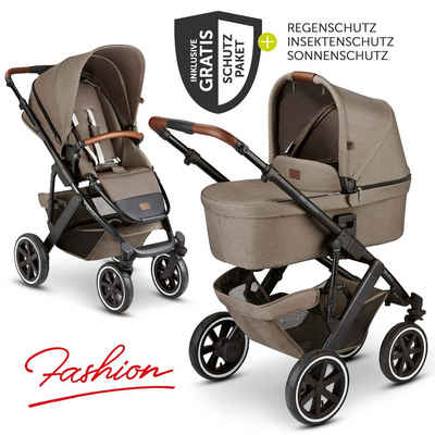ABC Design Kombi-Kinderwagen »Salsa 4 Air - Fashion Edition - Nature«, (7-tlg), inkl. Babywanne, Sportsitz & XXL Zubehörpaket - Kollektion 2021
