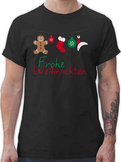 Shirtracer T-Shirt »Frohe Weihnachten Girlande - Weihnachten & Silvester Geschenke - Herren Premium T-Shirt« Neujahrsgeschenke Party Deko