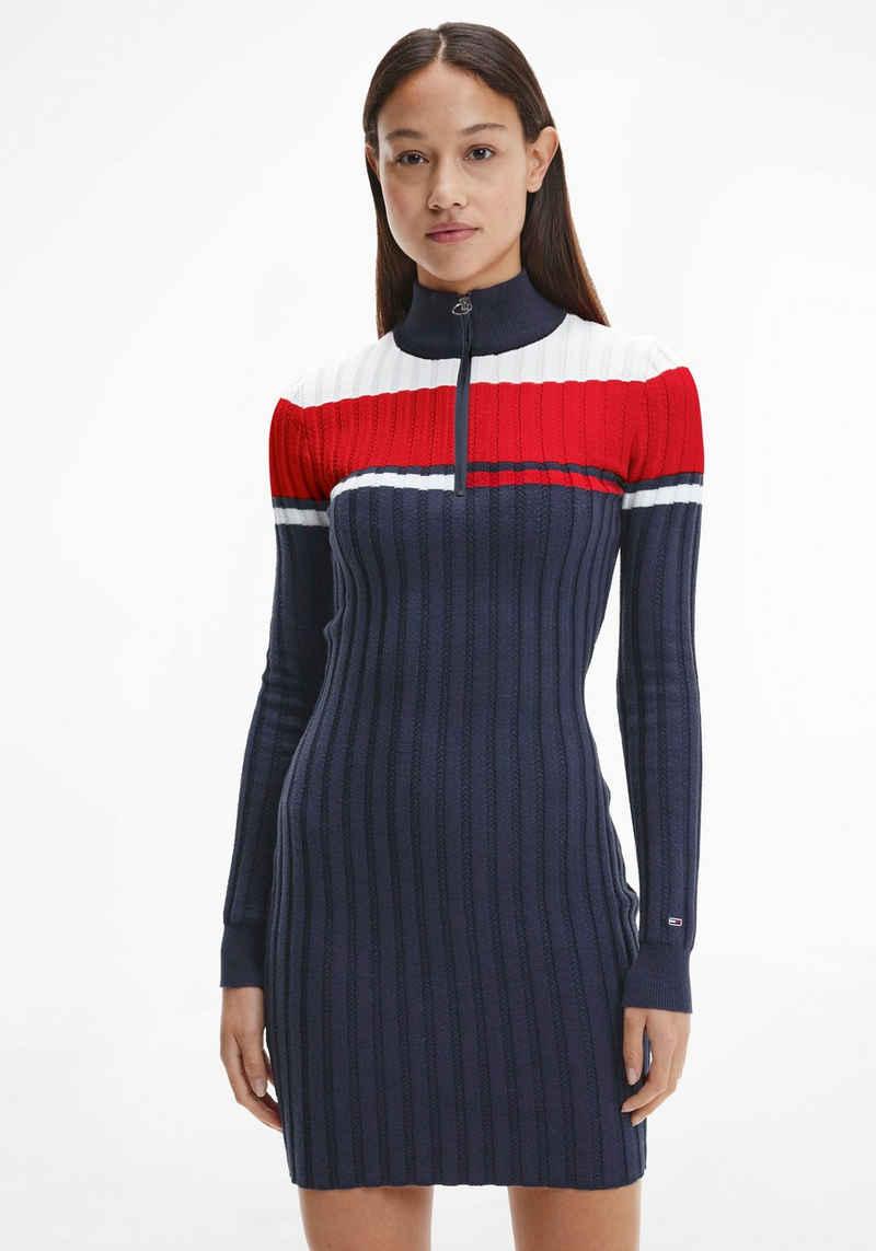 Tommy Jeans Strickkleid »TJW COLORBLOCK SWEATER DRESS« mit Colorblocking in den typischen Tommy Farben