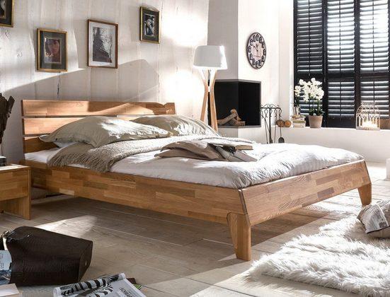 expendio Massivholzbett »Divico«, Massivholzbett 140x200cm aus Eiche geölt in hochwertiger Verarbeitung