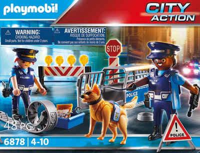 Playmobil® Konstruktions-Spielset »Polizei-Straßensperre (6878), City Action«, (48 St), Made in Germany