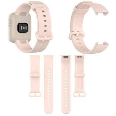 Wigento Für Xiaomi Mi Watch Lite / Redmi Watch Kunststoff / Silikon Armband Rosa Uhr Neu Fitnessband