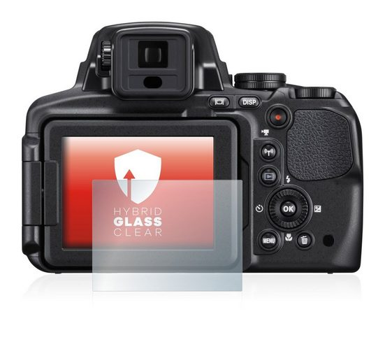 upscreen Schutzfolie »Panzerglasfolie für Nikon Coolpix P900«, Schutzglas Glasfolie klar