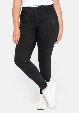 Sheego Stretch-Jeans Skinny su Teilungsnähte