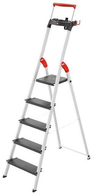 HAILO Stehleiter »L100«| 5 Stufen| max. Arbeitshöhe: 307 cm | Baumarkt > Leitern und Treppen > Stehleiter | Hailo