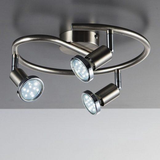 B.K.Licht LED Deckenspots »Mika 3«, LED Deckenleuchte schwenkbar GU10 Spots Deckenlampe Wohnzimmer Schlafzimmer Küche