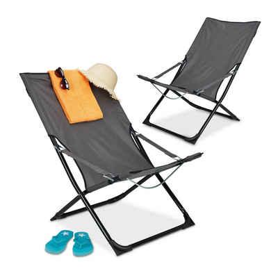 relaxdays Campingstuhl »Liegestuhl klappbar 2er Set«