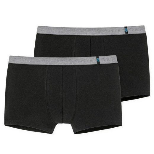 Schiesser Retro Pants »2er Pack 95/5 Shorts Pants« Kontrastfarbener Webgummibund mit SCHIESSER-Schriftzug, Perfekte Passform, In perfekt sitzender, elastischer Single-Jersey-Qualität
