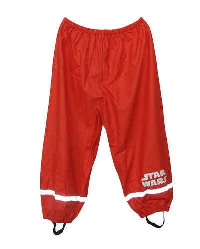 Star Wars Regenhose »Star Wars« Buddelhose Matschhose Jungen Outdoor Hose Schlammhose rot