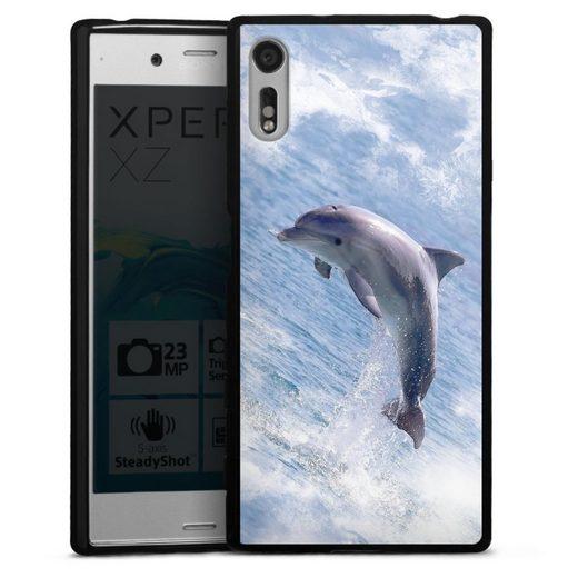 DeinDesign Handyhülle »Springender Delphin« Sony Xperia XZs, Hülle Delfine Meer Wal