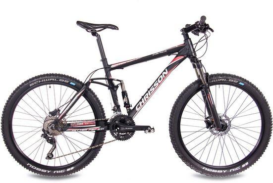 Chrisson Mountainbike »Hitter FSF«, 30 Gang Shimano Deore RD-M610-SGS Schaltwerk, Kettenschaltung, (1-tlg)