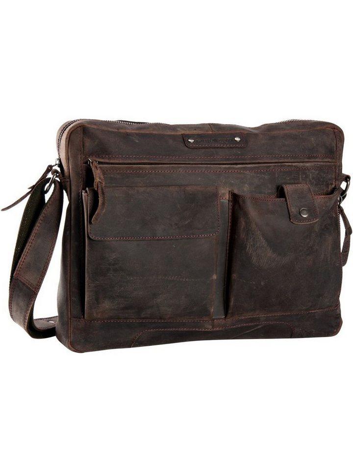 greenburry -  Laptoptasche »Vintage Revival Sattle Bag«, Umhängetaschen Querformat