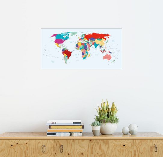 Posterlounge Wandbild, Weltkarte (2003, Englisch)