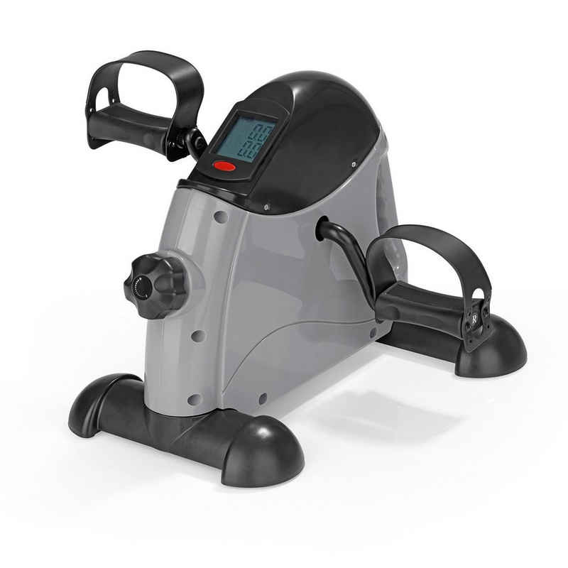 VITALmaxx Heimtrainer, Mini-Trainer 2in1 grau/schwarz
