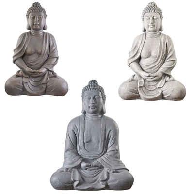 NEUSTEIN Buddhafigur »XXXL Großer Buddha 70 cm Steinoptik Garten Deko Figur Skulptur Feng Shui sitzend Steinfigur-Optik«