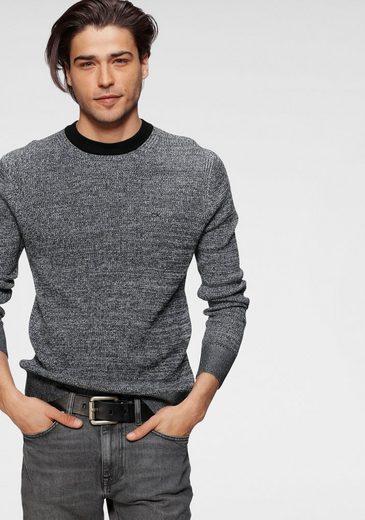 Calvin Klein Rundhalspullover »COTTON SILK TEXTURE SWEATER« Grobstrick mit Seide-Anteil