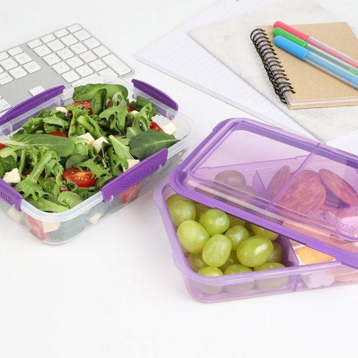 sistema Aufbewahrungsbox »Lunchbox Stack 1.8l, transparent-lila«, Kunststoff (lebensmittelsicher)