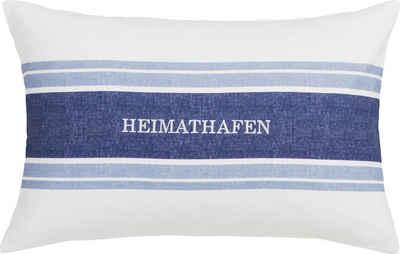 Kissenhülle »HEIMATHAFEN«, Estella (1 Stück), mit Schriftzug