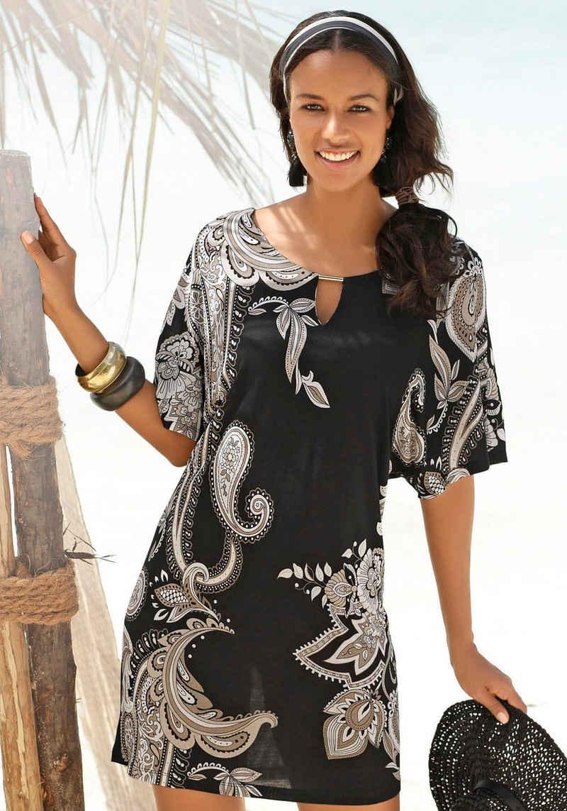 LASCANA Jerseykleid mit Zierdetail am Ausschnitt