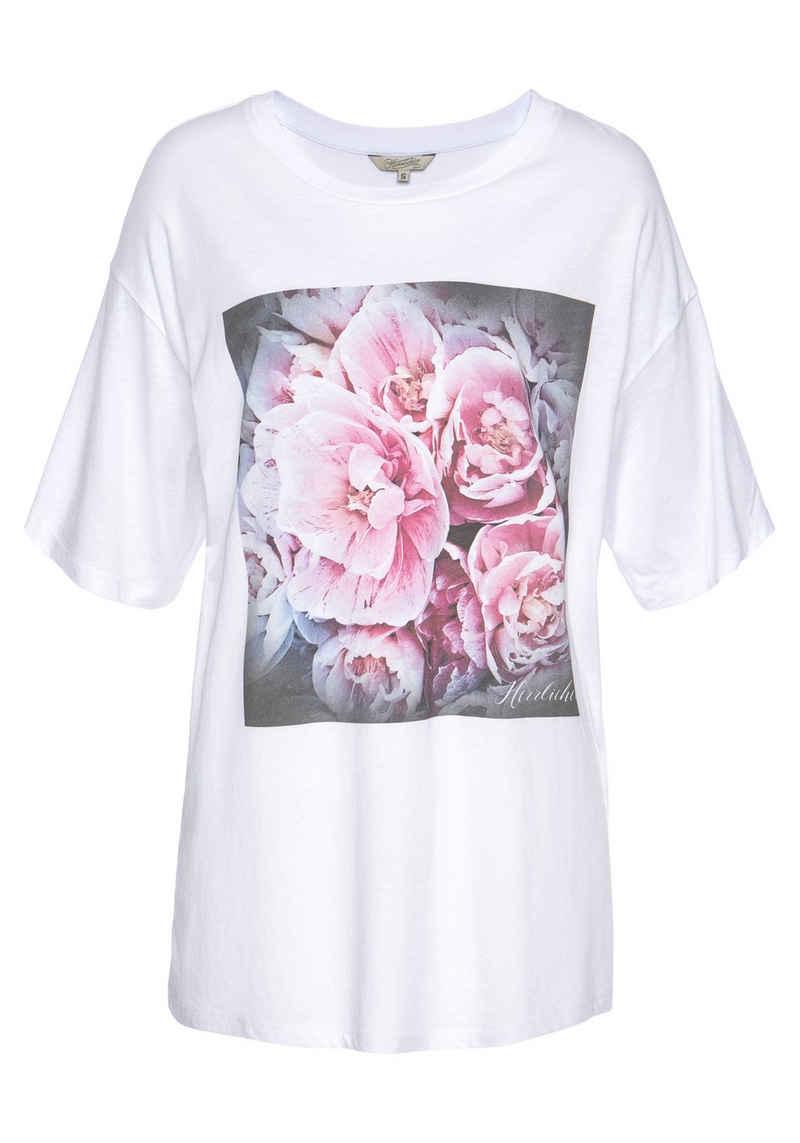 Herrlicher T-Shirt »SANNE« mit romantischem Rosen-Foto-Print