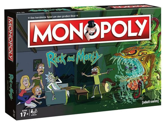 Winning Moves Spiel, Brettspiel »Monopoly Rick and Morty deutsch«