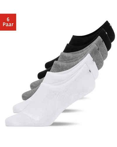 SNOCKS Füßlinge »Invisible Socks Sneaker Socken Damen & Herren« (6-Paar) besonders rutschfest, unsichtbar in Schuhen