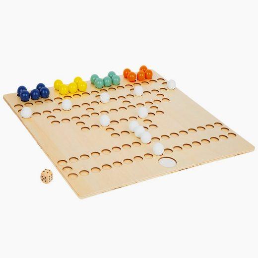 Small Foot Spiel, Barrikade Brettspiel-Klassiker aus Holz im XL-Format »Barrikade XL Mit extra großem Spielfeld«, Das extra große Spielfeld und die Aussparungen für die Spielsteine machen es Spielern mit kleinen Händen oder unsicherer Handführung einfach.