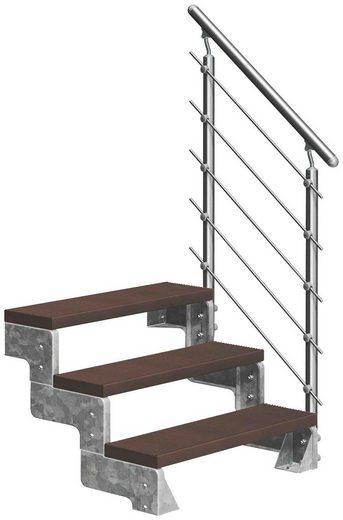 DOLLE Außentreppe »Gardentop«, für Geschosshöhen bis 66 cm, TRIMAX®-Stufen 80 cm