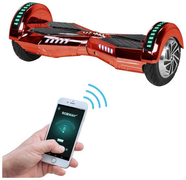 ROBWAY Hoverboard »W2«, CHROM EDITION 8 Zoll mit APP-Funktion*