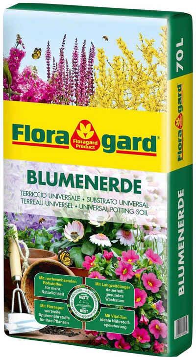 Floragard Blumenerde, mit Langzeitdünger, (1-St), 1x70 Liter