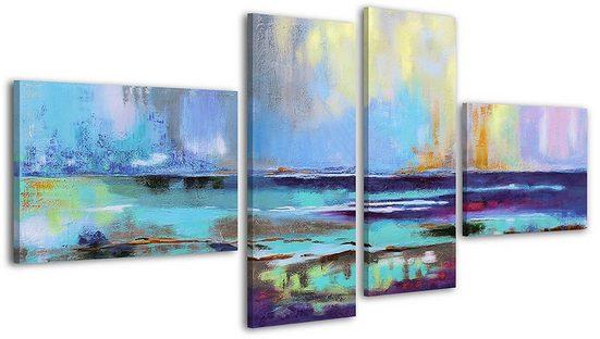 YS-Art Gemälde »Azurblaues Scheinen 037«