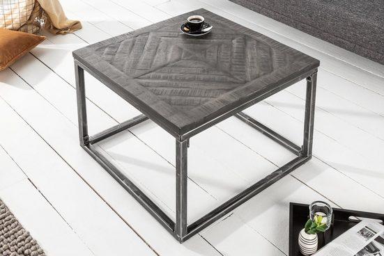 riess-ambiente Beistelltisch »INFINITY HOME 60cm grau«, aus Massivholz