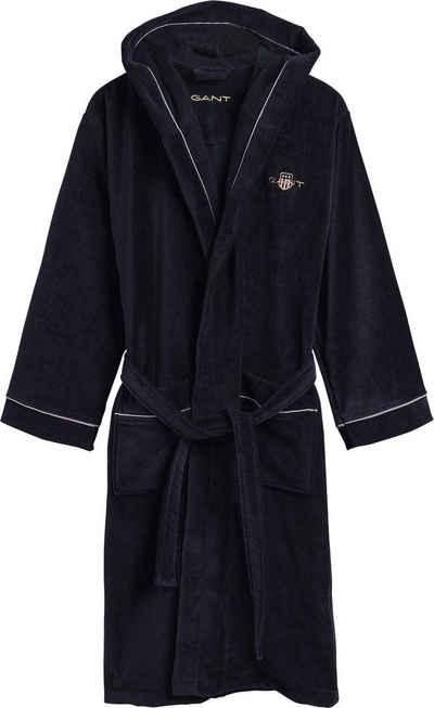 Unisex-Bademantel »Archive Shield Robe«, Gant, in zeitlosen Unifarben