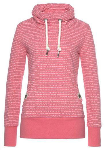 Ragwear Sweatshirt »RYLIE« mit maritimen Wellen-Allover-Druck in Streifenoptik