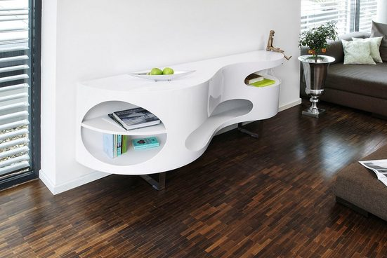 SalesFever Sideboard, Anrichte Made in Germany, Design Kommode in extravaganter Form, Wohnzimmerschrank