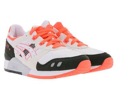 Asics »asics GEL-LYTE 3 OG Sneaker top modischer Damen Lauf-Schuhe mit bunten Details Freizeit-Sneaker Weiß/Schwarz/Orange« Sneaker