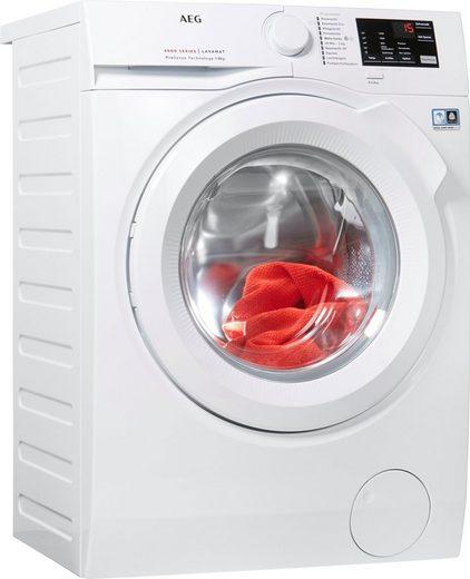 AEG Waschmaschine L6FB50480, 8 kg, 1400 U/Min, ProSense - Mengenautomatik