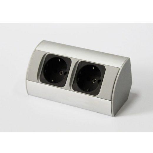 kalb »kalb Ecksteckdose Aluminium Energiebox Tischsteckdose Powerport Schutzkontakt« Smarte Steckdose