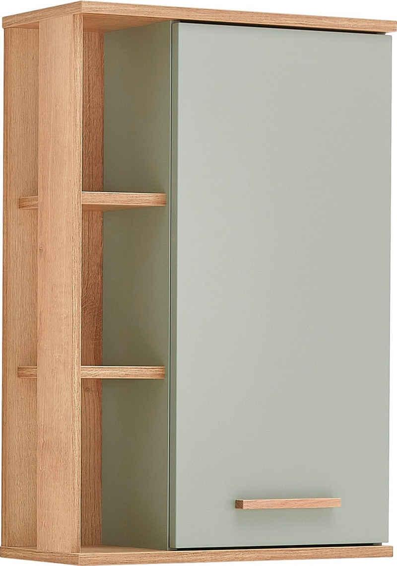 PELIPAL Hängeschrank »Quickset 963« Breite 50,5 cm, seitliche offenes Regal, Holzgriff, Türdämpfer, Glaseinlegeböden