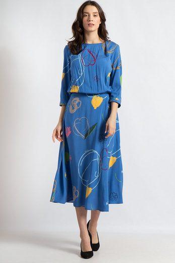 Finn Flare Jerseykleid mit modischem Allover-Print